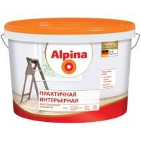 Alpina Практичная интерьерная - Матовая универсальная белая краска, РБ, 10л