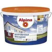 Alpina Долговечная фасадная B.1 - Акриловая краска для наружных работ, белая, РБ, 10л