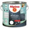 Alpina Водоразбавляемая белая эмаль  - Акриловая в/д эмаль для внутренних и наружных работ, шелковисто-матовая/глянцевая, Германия, 0.75-2.5л