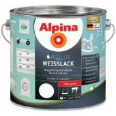 Alpina Aqua Weisslack - Водоразбавляемая белая эмаль, 0,75-2,5 л, Германия