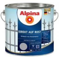 Alpina Прямо на ржавчину - Эмаль для защиты металла (защита от коррозии, грунтовка, фин. покрытие), в ассортименте, Германия, 0.75-2.5л