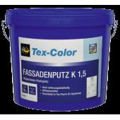 """Tex-color KH - Акриловая фасадная штукатурка с армирующими волокнами, фактура """"Короед"""" и """"Камешковая"""" в ассортименте"""