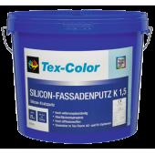 Tex-color Silicon Fassadenputz - Высококачественная силиконовая декоративно-защитная штукатурка, фактура K15, K20, K30, R15, R20 в ассортименте, 25кг