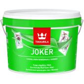 Tikkurila Joker Base A - Интерьерная шелковисто-матовая краска, белая, 0,225 - 9 л, Финляндия.