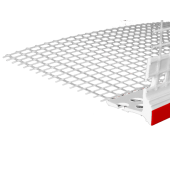 Profil Systems - Профиль капельник ПВХ универсальный с сеткой, 2.5м, РФ