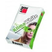 Baumit KlimaWhite - Штукатурка известковая облегченная, белая, 25 кг, РФ