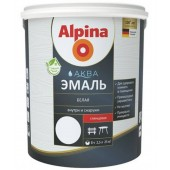 Alpina АКВА Белая Эмаль - Акриловая белая эмаль, в ассортименте, 0,9-2,5 л, РБ