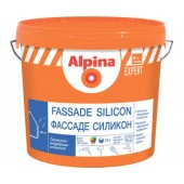 Alpina Expert Fassade Silicon B 1 - Фасадная краска с силиконом, белая, 10 л