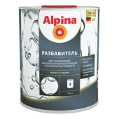 Alpina Разбавитель - Разбавитель на основе уайт-спирита для продуктов Alpina, 0,75л