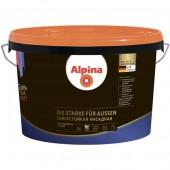 Alpina Суперстойкая фасадная (Alpina Die Starke fuer Aussen) B.1 - Стойкая к загрязнениям фасадная краска, белая, 10л, РБ