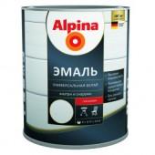 Alpina Белая Эмаль - Универсальная эмаль на растворителе, 0,75 - 2,5л, РБ