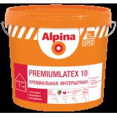 Alpina Expert Premiumlatex 10 B.1 - Среднеглянцевая интерьерная краска, белая, 2.5-10л, РБ