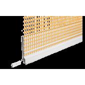 Capatect Putzabschlussprofil 661/56 - профиль примыкания пластиковый перфорированный со стеклосеткой и отводным кантом. Германия.