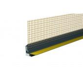 Capatect Anputzleiste 3D Mini 646/02 - Профиль примыкания к оконным и дверным проемам (с сеткой) . Длина 2,4 м, Германия
