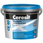 Ceresit CE 40 Aquastatic - Эластичная фуга для плитки, цвета в ассортименте, 5 кг, РБ