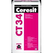 Ceresit CT 34 - Белая цементная шпатлевка для внутренних и наружных работ, 25 кг