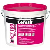 Ceresit CT 100 Impactum - Однокомпонентный готовый клей для армирования пенополистирола, 25кг, Польша