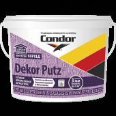 "Condor DEKOR PUTZ - Готовая декоративная штукатурка. Фактура ""Короед"" , фракции 2,0 мм и 3,0 мм, РБ, 14 л"