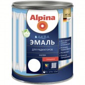 Alpina АКВА эмаль для радиаторов акриловая, 0,9 л, РБ
