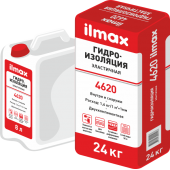 Ilmax 4620 aqua-stop flex - Эластичная двухкомпонентная гидроизоляция, 24кг+8л, РБ