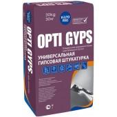 Kiilto Opti Gyps - Универсальная штукатурная смесь на гипсовой основе, белая/серая, 30 кг, РФ