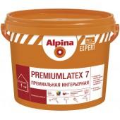 Alpina Expert Premiumlatex 7 B.1 - Шелковисто-матовая интерьерная краска, белая, РБ, 2.5-10л