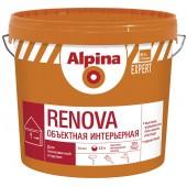 Alpina Expert Renova - Матовая, ярко-белая интерьерная краска, РБ, 10-15 литров