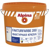 Alpina Expert Fakturfarbe 200 - Фактурная краска, зерно до 1.5-2 мм, 15кг, РБ