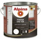 Alpina Fenster und Tuer - Эмаль для окон и дверей, 0.75-2.5 л., Германия
