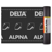 DELTA Alpina - Диффузионная мембрана для пологих и сложных крыш, 1,5*30 м, рулон 45 м2, Германия