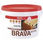 MAV ПВА Brava - Клей ПВА высоковязкий, 5-20 л, РБ