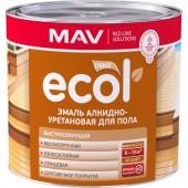 MAV Ecol - Эмаль для пола алкидно-уретановая, 2.4 л, РБ