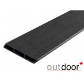 Outdoor доска заборная Ромбус ДПК размер в ассортименте, черная