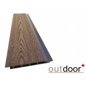 Outdoor фасадная доска ДПК 166*20*4000 мм, текстура дерево, коричневая