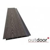 Outdoor фасадная доска ДПК 166*20*4000 мм, текстура дерево, темно-коричневая