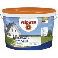 Alpina Надежная Фасадная  - Акриловая белая краска для фасадных работ, РБ, 2.5-10л